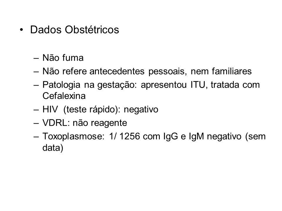 Dados Obstétricos Não fuma