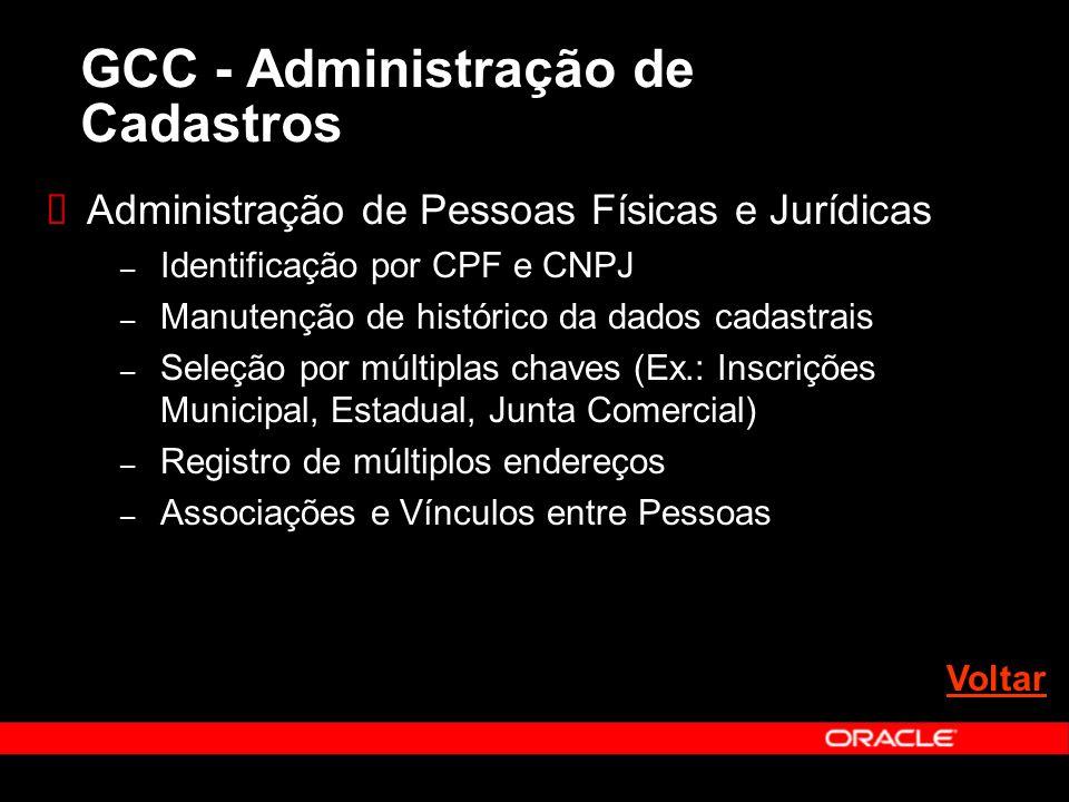 GCC - Administração de Cadastros