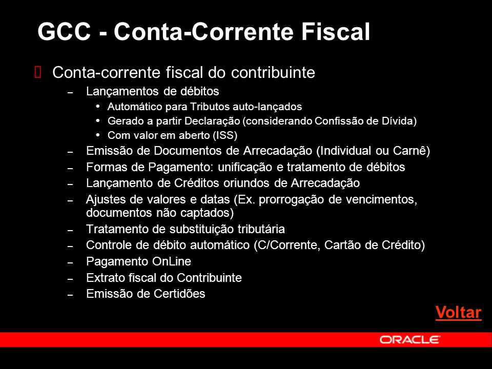 GCC - Conta-Corrente Fiscal