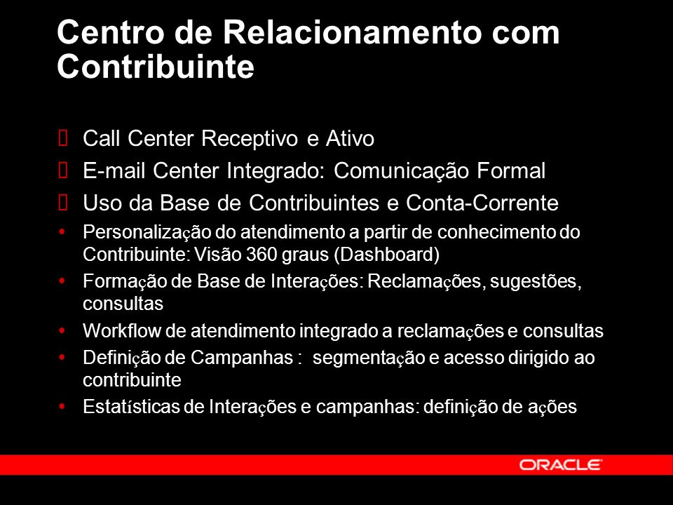 Centro de Relacionamento com Contribuinte