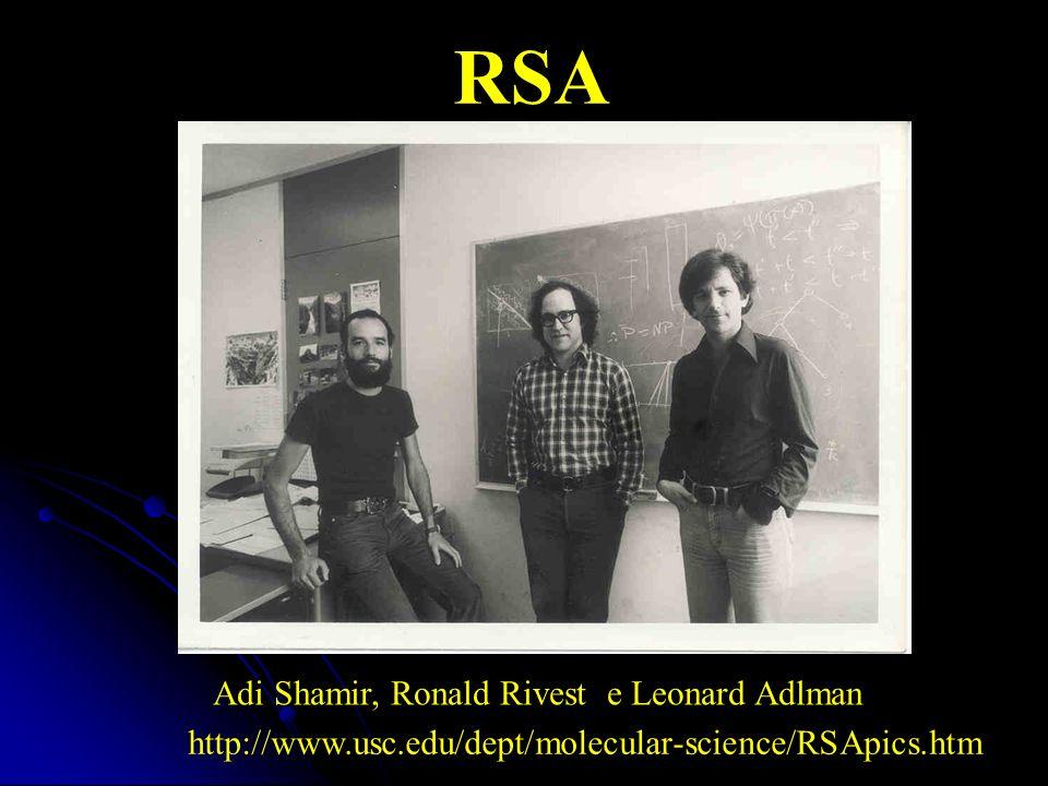 RSA Adi Shamir, Ronald Rivest e Leonard Adlman