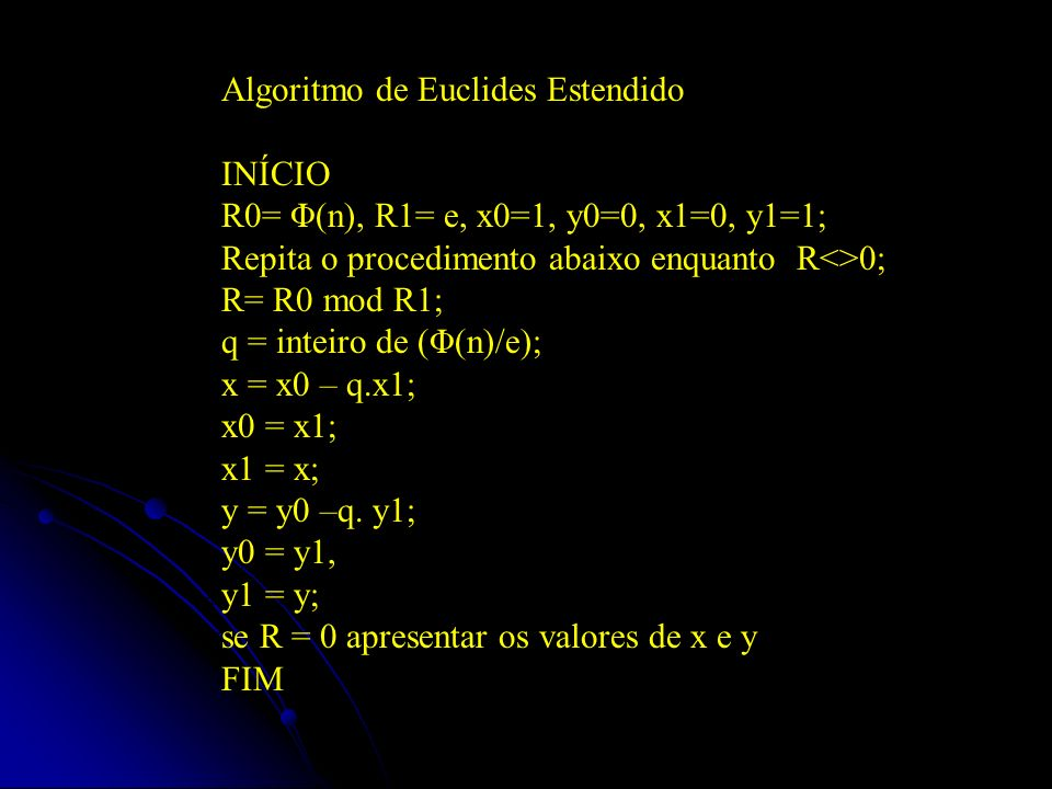 Algoritmo de Euclides Estendido