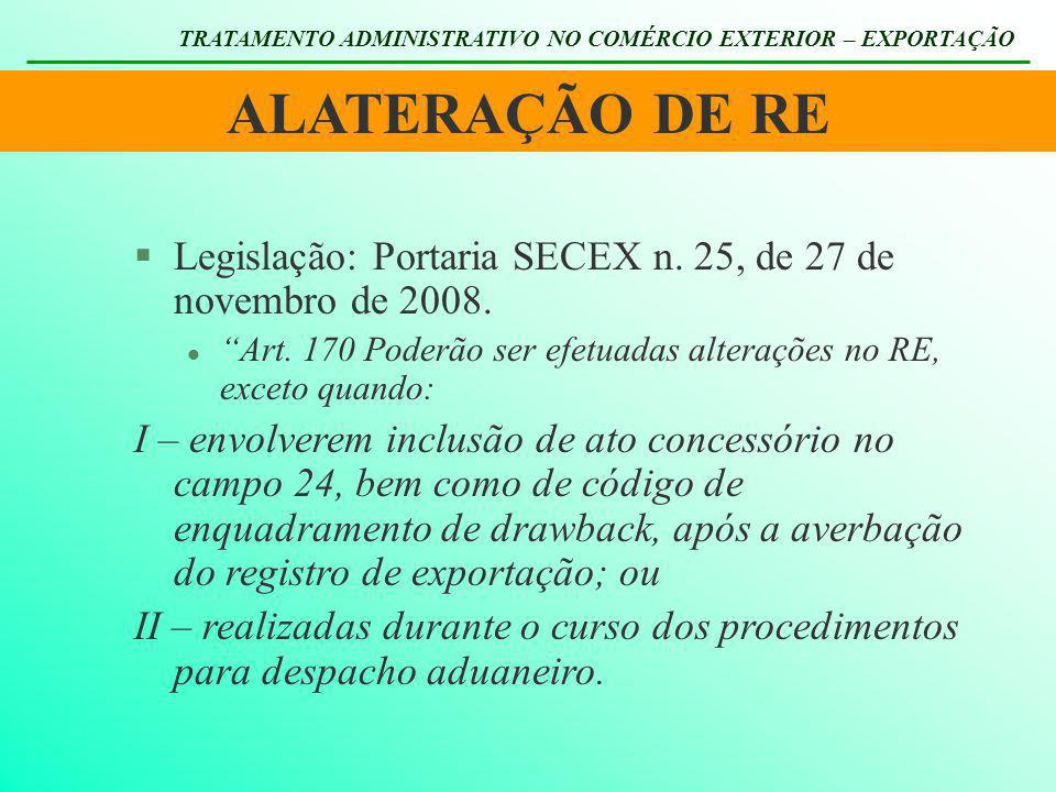 TRATAMENTO ADMINISTRATIVO NO COMÉRCIO EXTERIOR – EXPORTAÇÃO