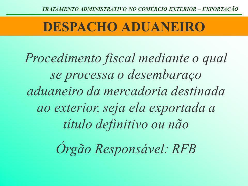 Órgão Responsável: RFB