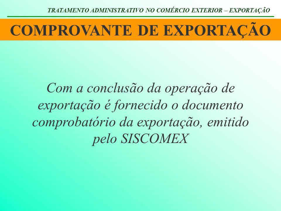 COMPROVANTE DE EXPORTAÇÃO