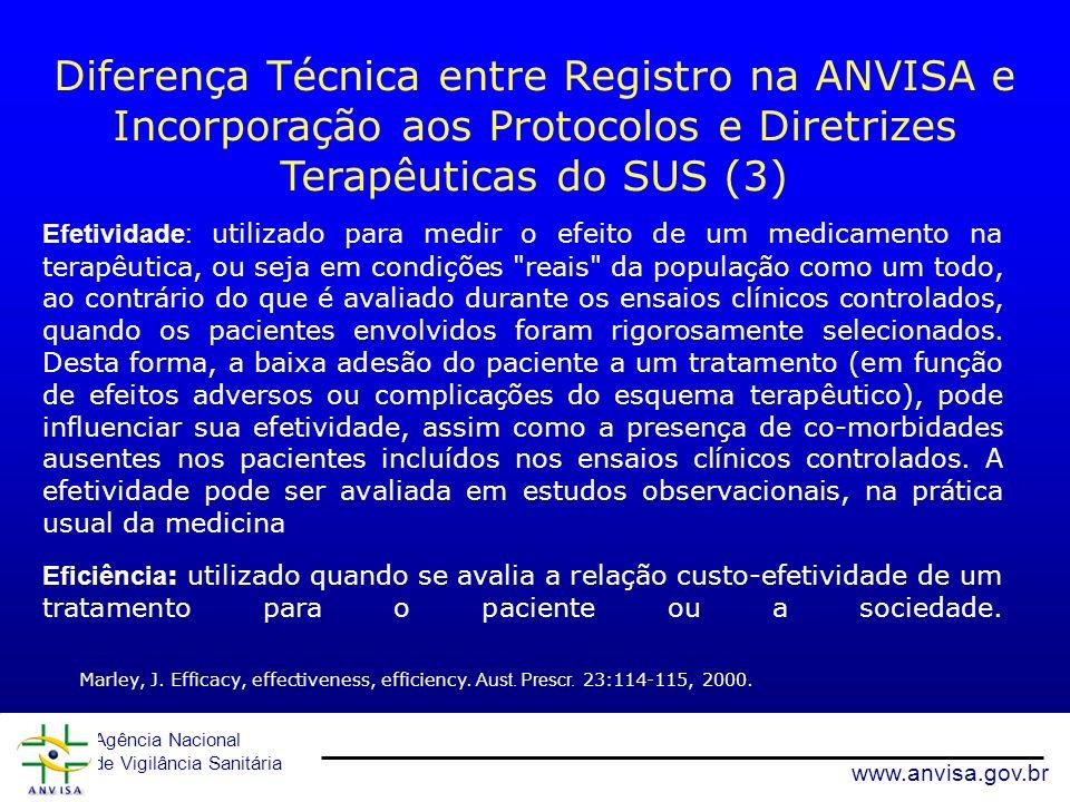 Diferença Técnica entre Registro na ANVISA e Incorporação aos Protocolos e Diretrizes Terapêuticas do SUS (3)