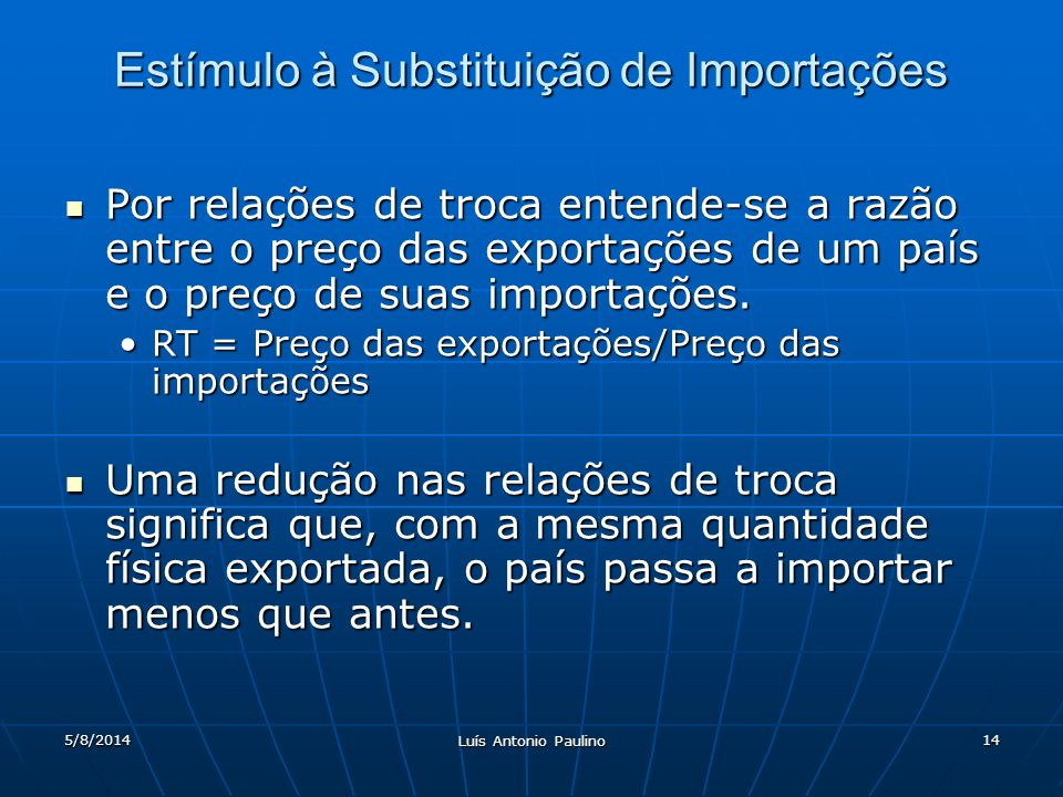 Estímulo à Substituição de Importações