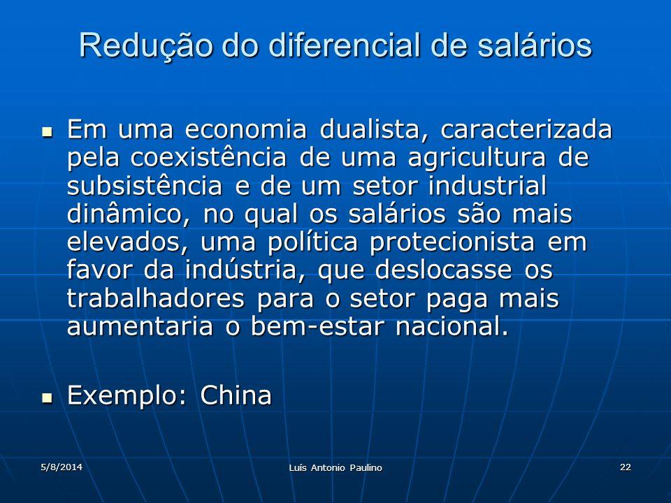 Redução do diferencial de salários