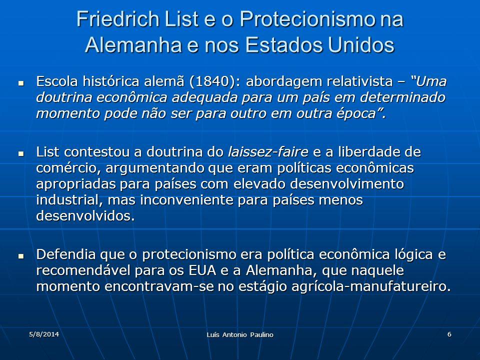 Friedrich List e o Protecionismo na Alemanha e nos Estados Unidos