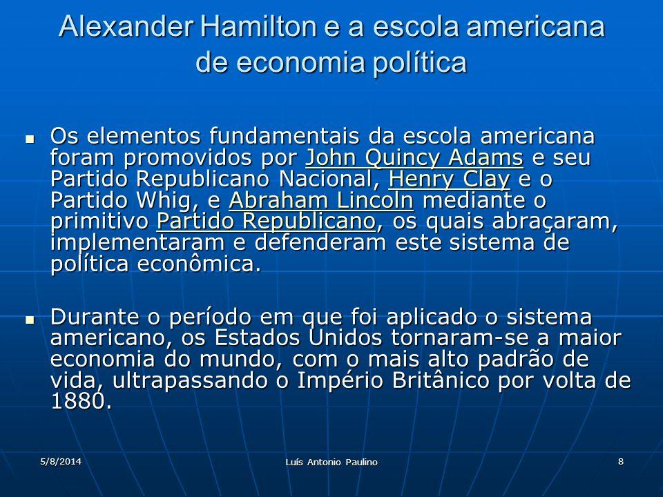 Alexander Hamilton e a escola americana de economia política