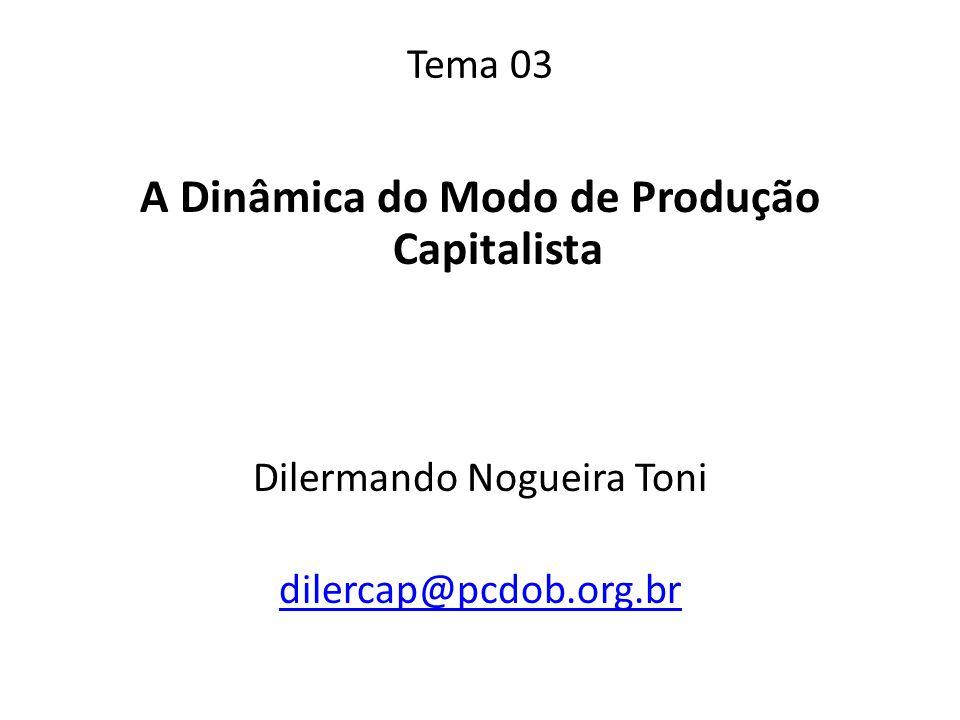 A Dinâmica do Modo de Produção Capitalista