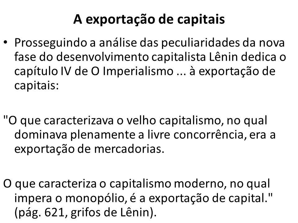 A exportação de capitais