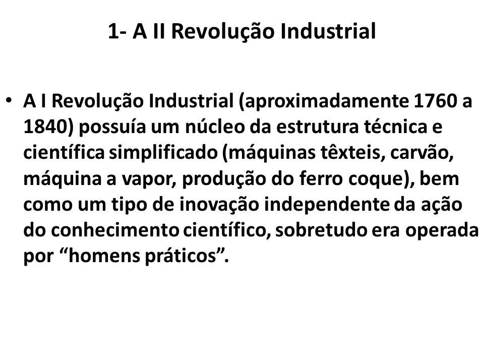 1- A II Revolução Industrial