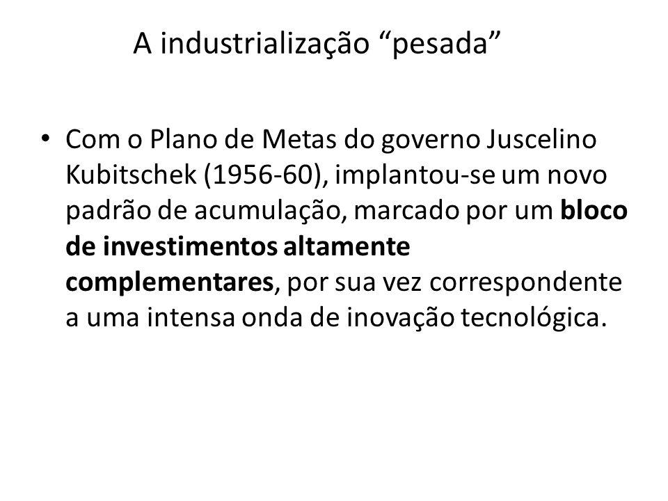 A industrialização pesada