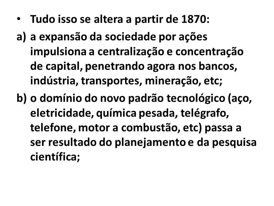 Tudo isso se altera a partir de 1870: