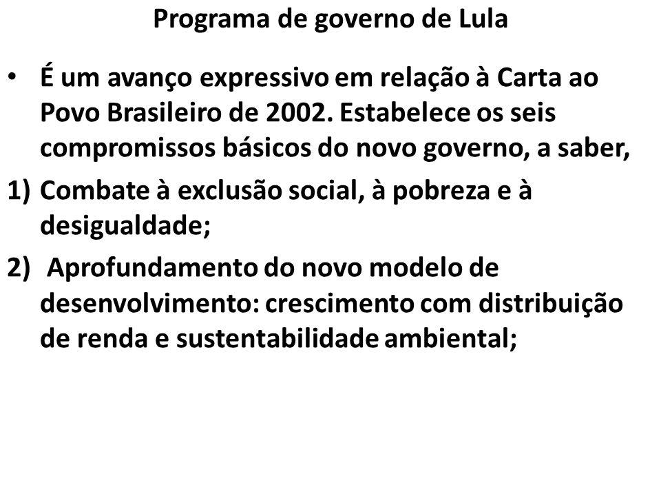 Programa de governo de Lula