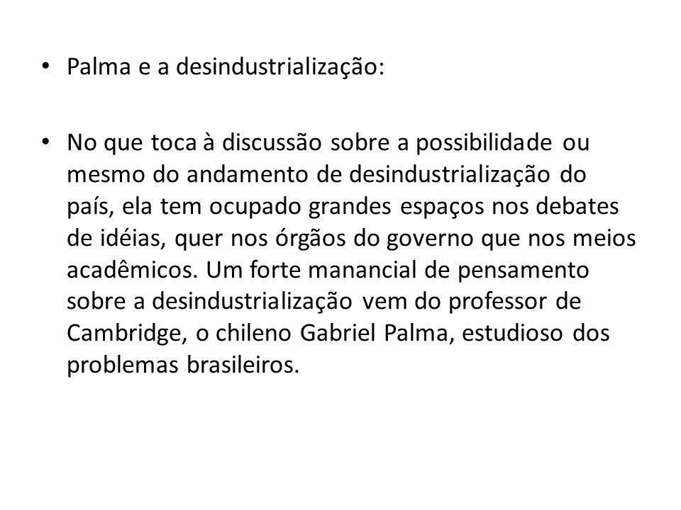 Palma e a desindustrialização: