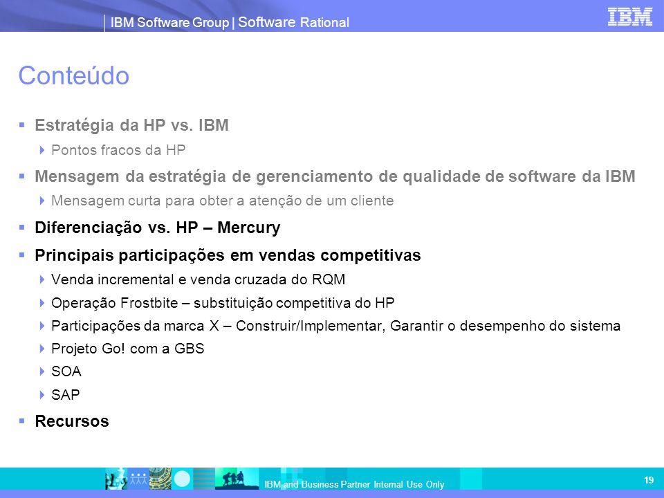 Conteúdo Estratégia da HP vs. IBM