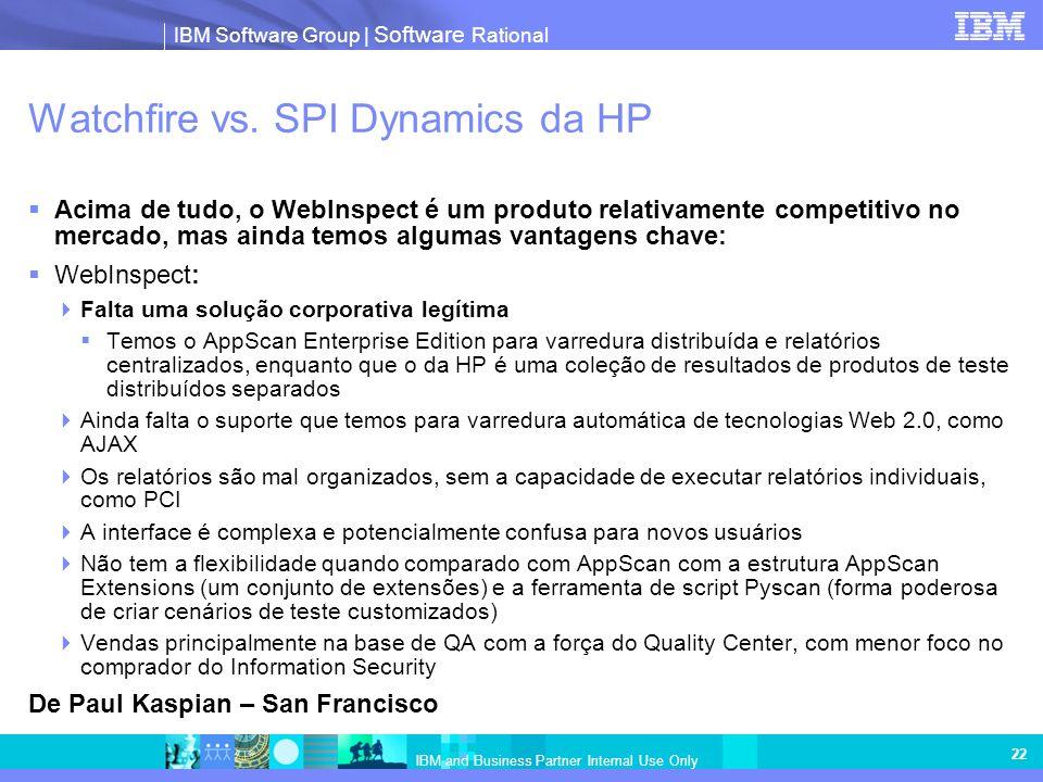 Watchfire vs. SPI Dynamics da HP