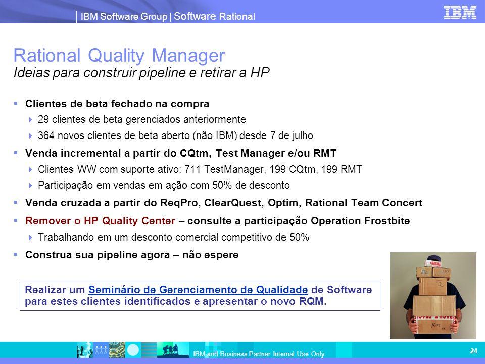 Rational Quality Manager Ideias para construir pipeline e retirar a HP