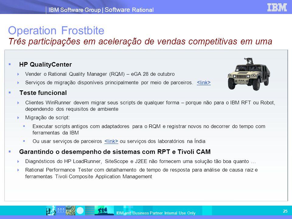 Operation Frostbite Três participações em aceleração de vendas competitivas em uma