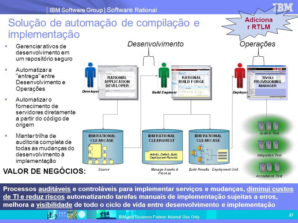 Solução de automação de compilação e implementação