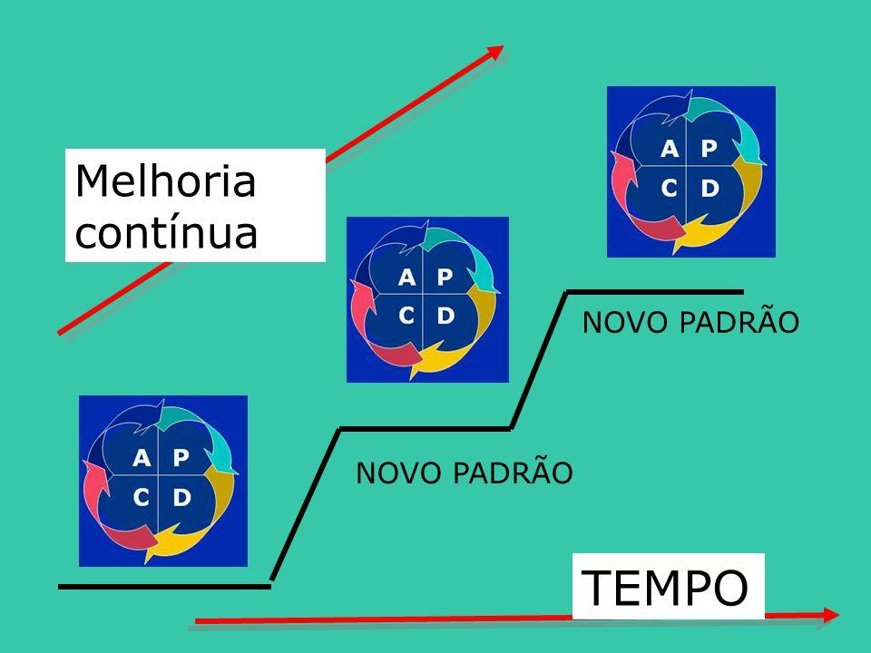 Melhoria contínua NOVO PADRÃO NOVO PADRÃO TEMPO
