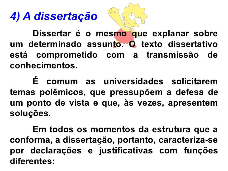 4) A dissertação