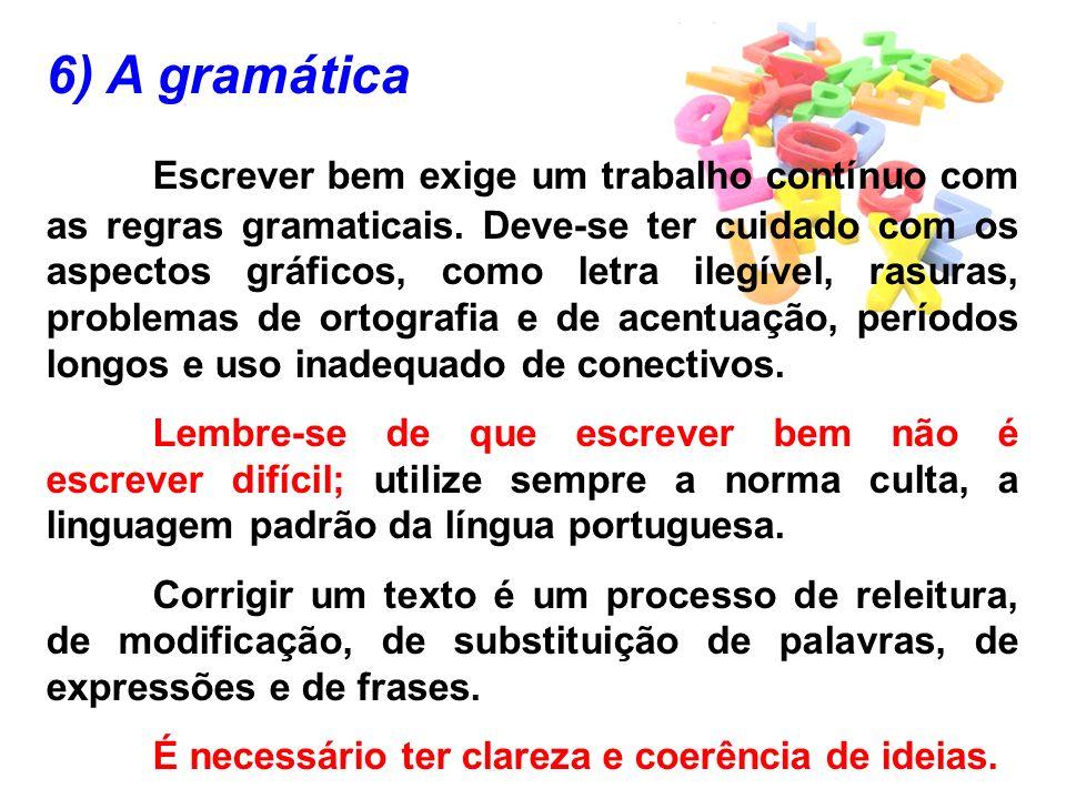 6) A gramática