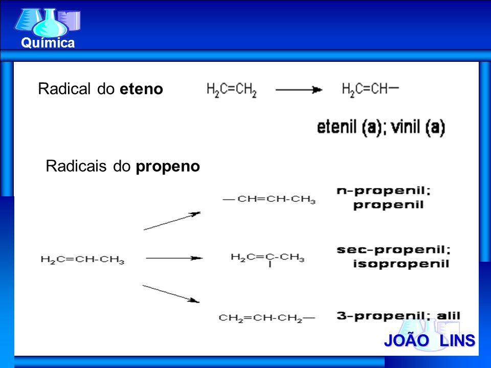 Química Radical do eteno Radicais do propeno JOÃO LINS