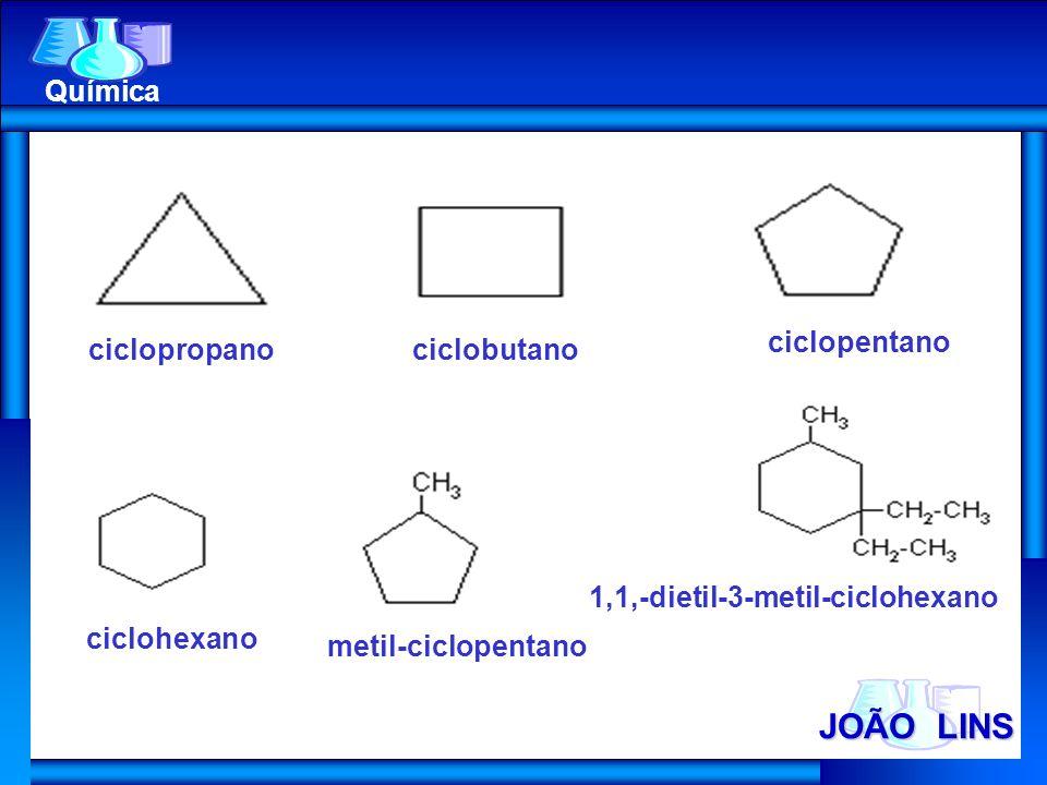 JOÃO LINS Química ciclopentano ciclopropano ciclobutano