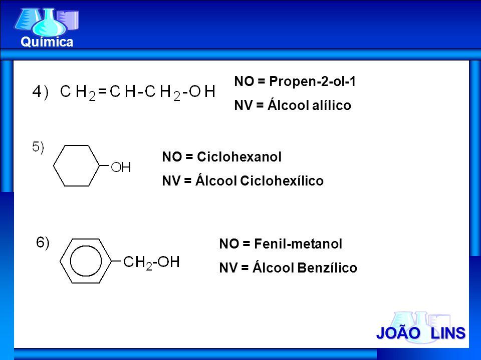 JOÃO LINS Química NO = Propen-2-ol-1 NV = Álcool alílico