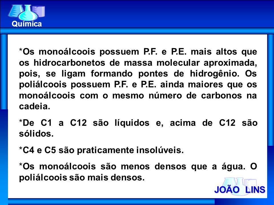 De C1 a C12 são líquidos e, acima de C12 são sólidos.