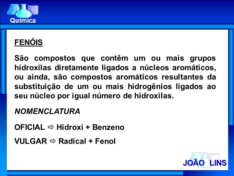 OFICIAL  Hidroxi + Benzeno VULGAR  Radical + Fenol