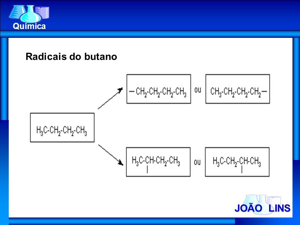 Química Radicais do butano JOÃO LINS