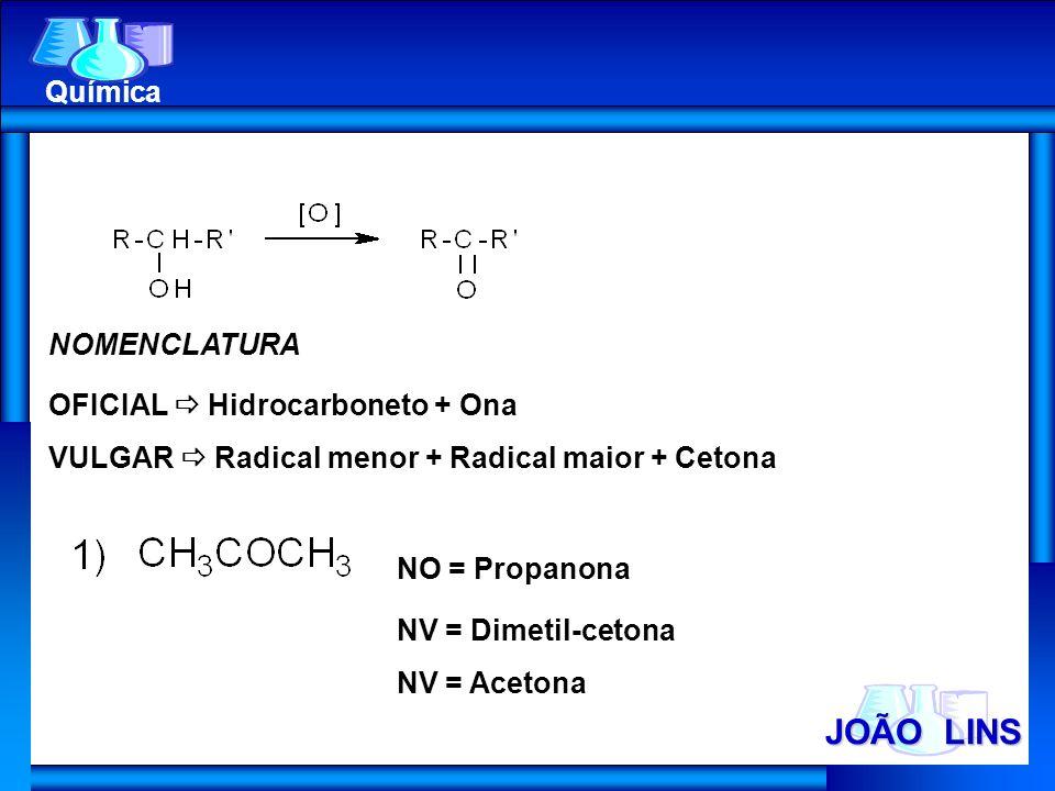JOÃO LINS Química NOMENCLATURA OFICIAL  Hidrocarboneto + Ona