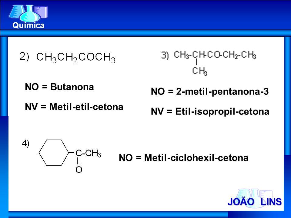 NV = Metil-etil-cetona NO = 2-metil-pentanona-3