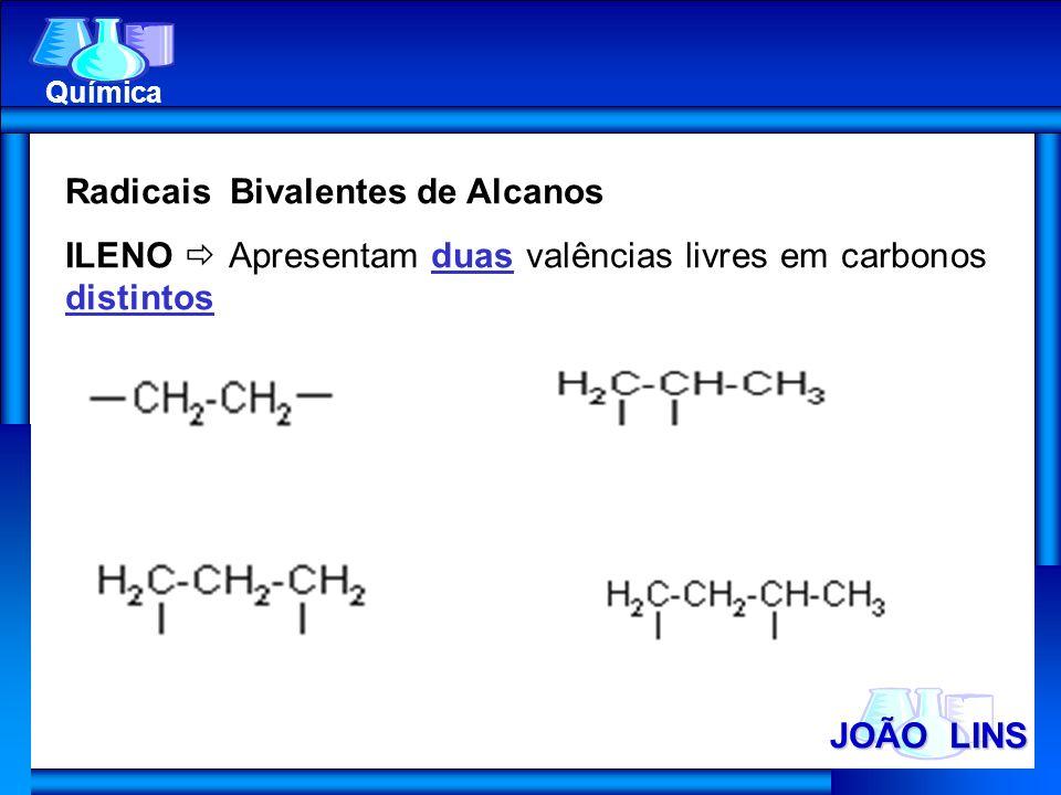 Radicais Bivalentes de Alcanos