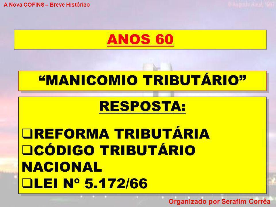 MANICOMIO TRIBUTÁRIO
