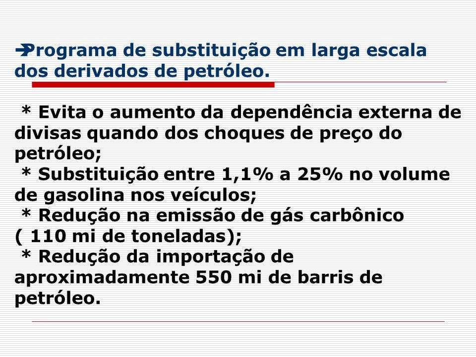 Programa de substituição em larga escala dos derivados de petróleo