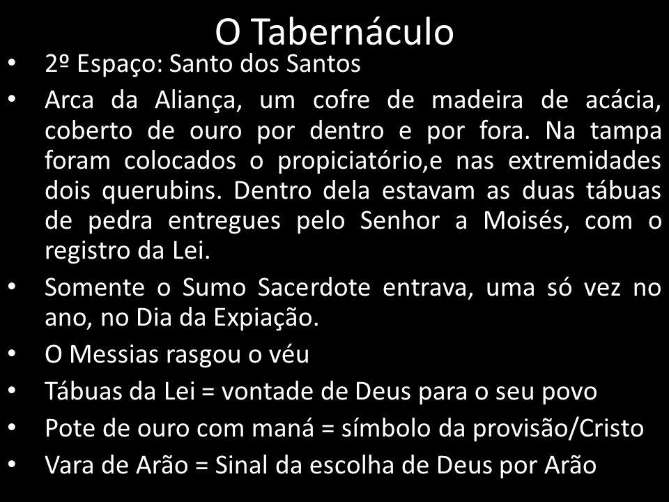 O Tabernáculo 2º Espaço: Santo dos Santos