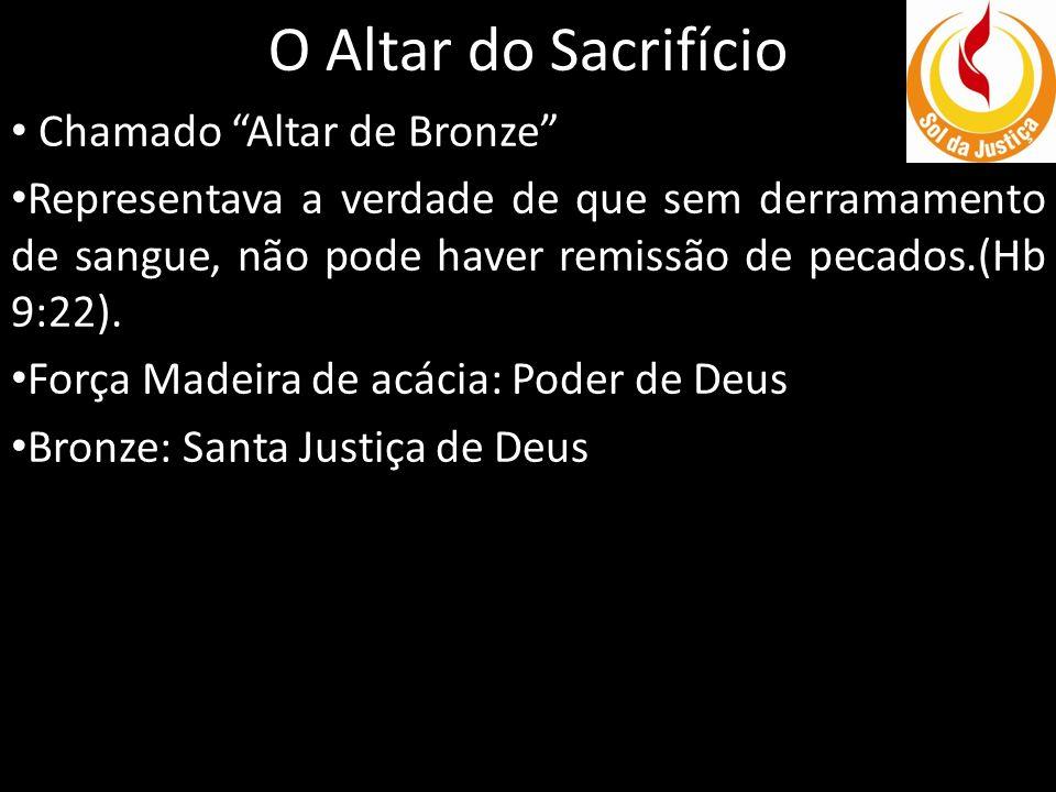 O Altar do Sacrifício Chamado Altar de Bronze