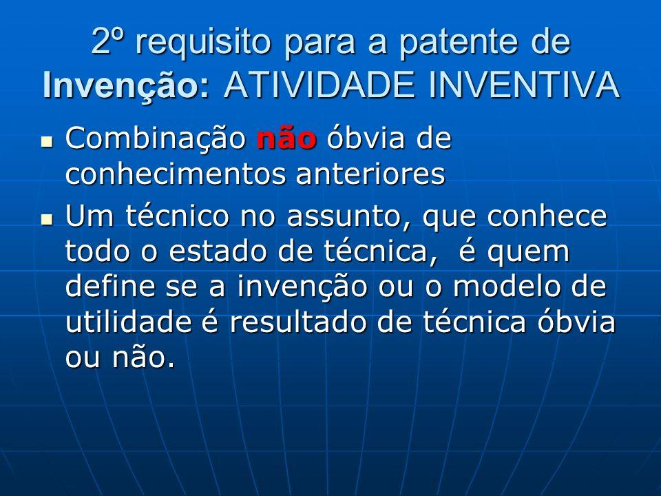2º requisito para a patente de Invenção: ATIVIDADE INVENTIVA