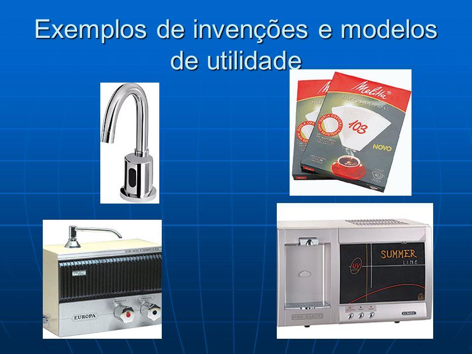 Exemplos de invenções e modelos de utilidade