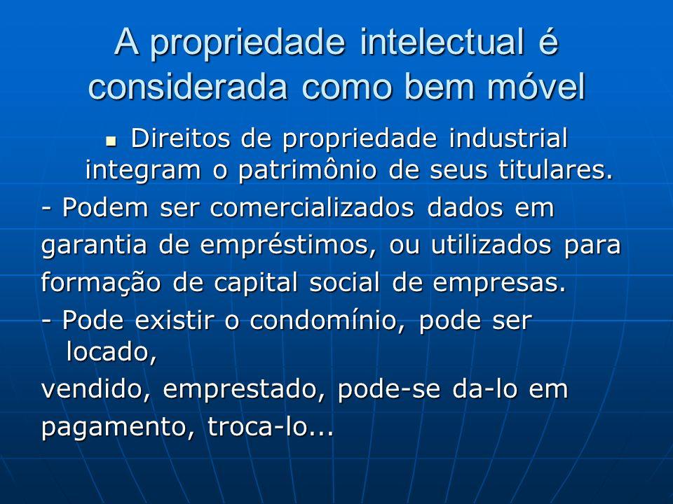 A propriedade intelectual é considerada como bem móvel