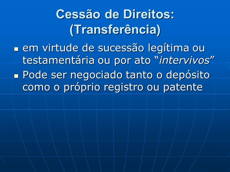 Cessão de Direitos: (Transferência)