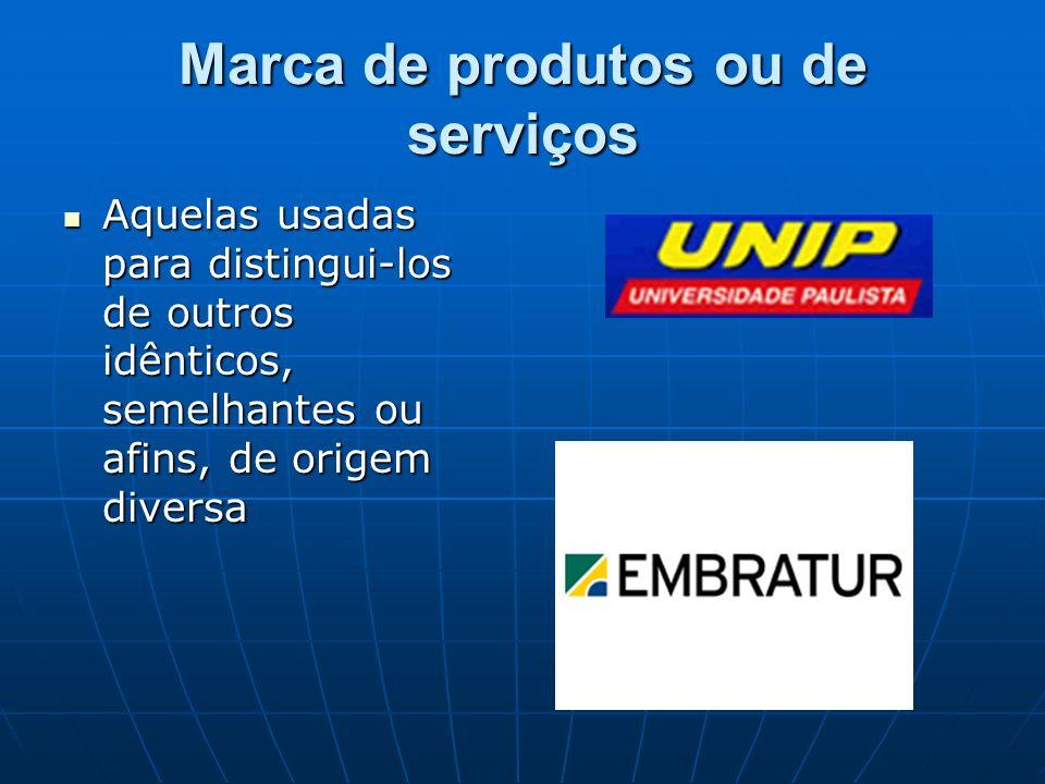 Marca de produtos ou de serviços