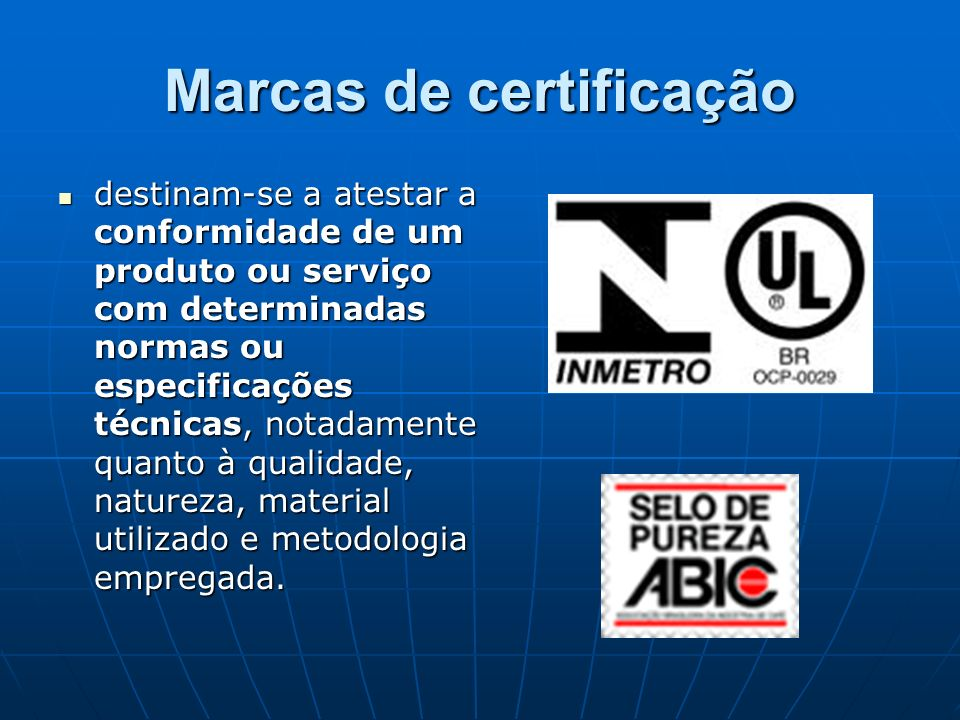 Marcas de certificação