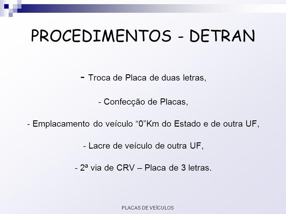 PROCEDIMENTOS - DETRAN