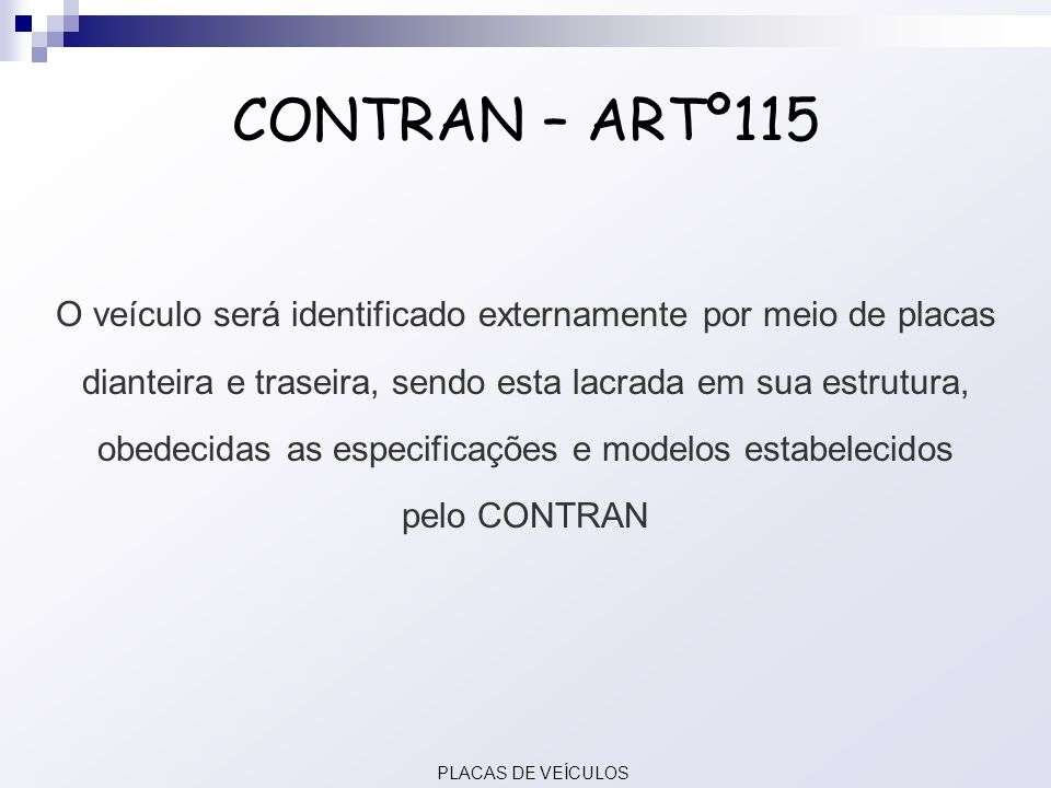 CONTRAN – ARTº115